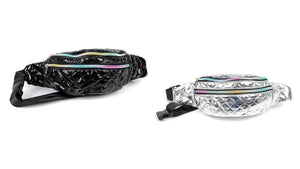 Quilted Metallic Waist Fanny Packs