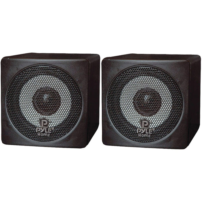 Pyle Home 100-watt Mini-Cube Bookshelf Speakers (black)