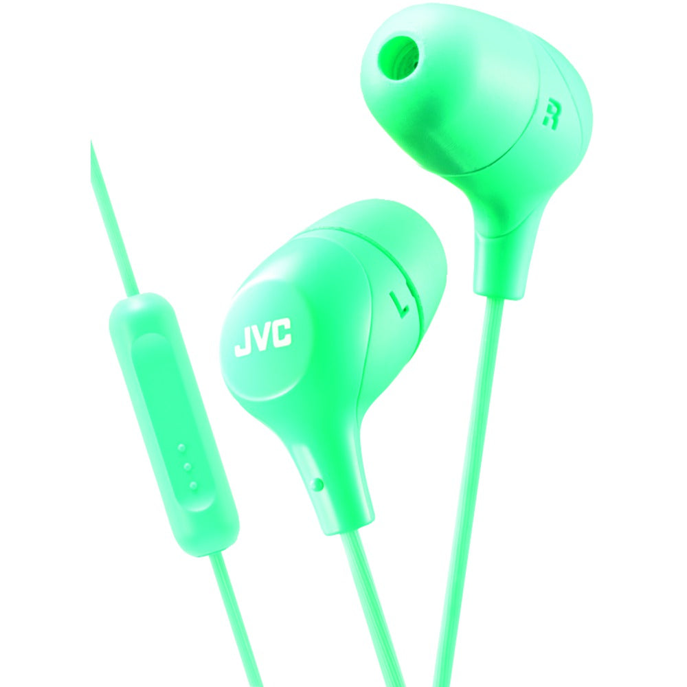 Jvc Marshmallow Inner-ear Headphones With Microphone (green)