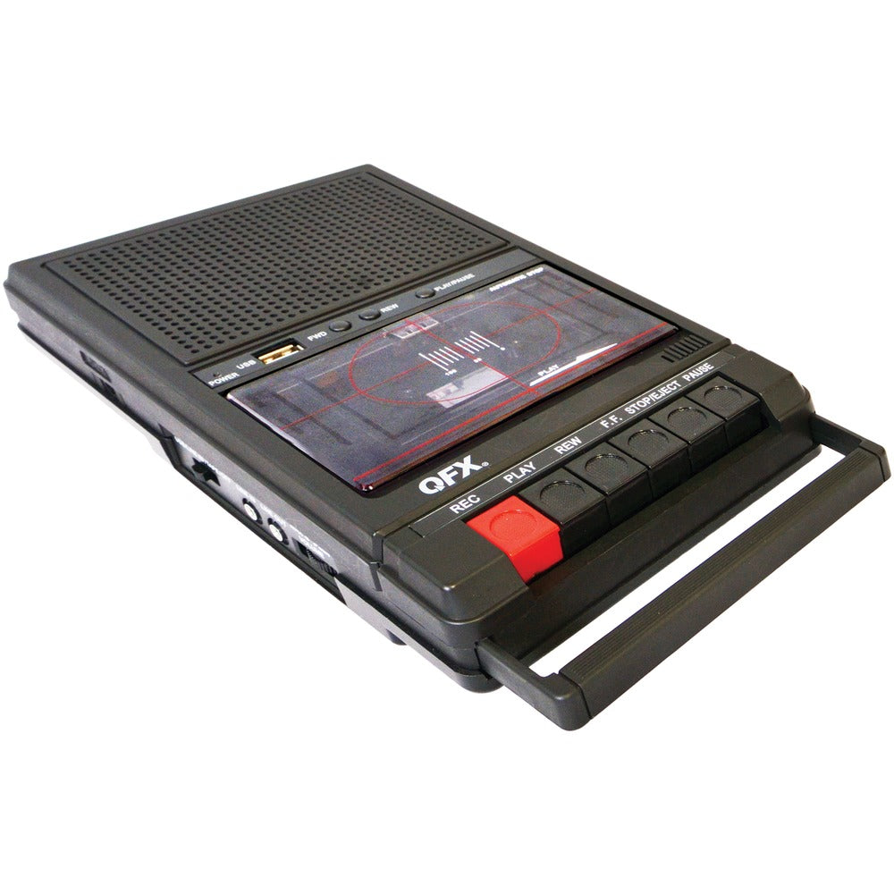 Qfx Retro Shoebox Cassette Tape Recorder