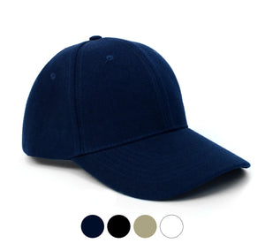 Parquet Pre-Curved Visor Solid Color Adjustable Baseball Caps