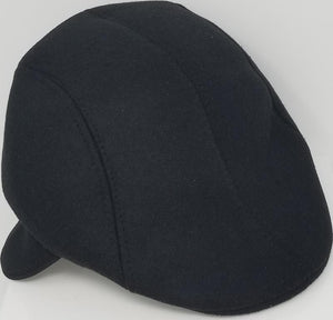Ivy Hat with Ear Flaps Men's Hat GS4Less Large/Extra Large Black Cotton/Polyester