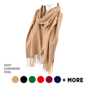 Umo Lorenzo Unisex Solid Color Cashmere Feels Acrylic Scarves