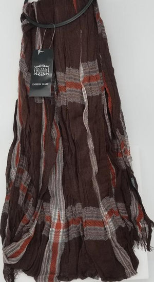 Nollia Women's Viscose Fashion Scarves Viscose Scarves Nollia Brown-Grey-Red