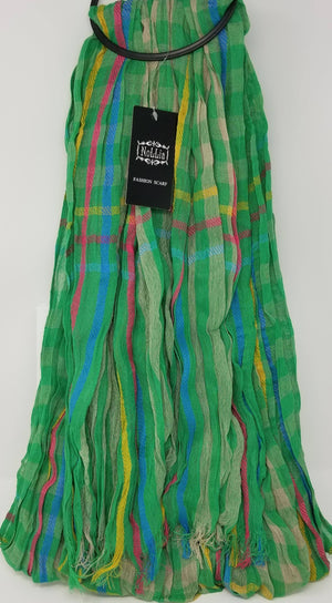 Nollia Women's Viscose Fashion Scarves Viscose Scarves Nollia Green-Yellow-Red