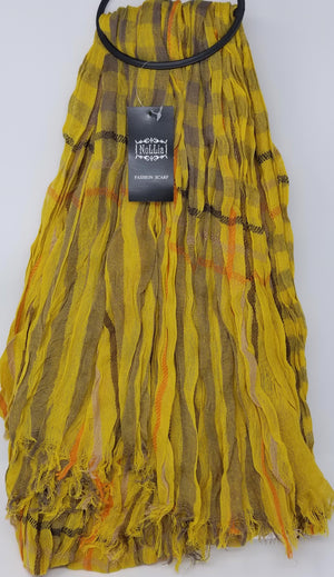 Nollia Women's Viscose Fashion Scarves Viscose Scarves Nollia Mustard Yellow