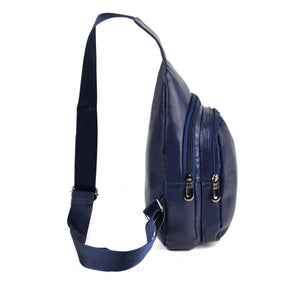 Westend Crossbody Navy Leather Sling Bags with Adjustable Strap