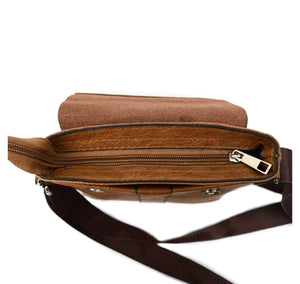 Westend Leather Small Crossbody Messenger Bag