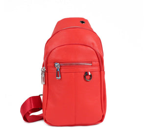 Westend PU Leather Red Crossbody Sling Bag
