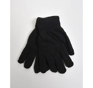 Women's Solid Color Stretch Gloves Women's Gloves GS4LESS Black