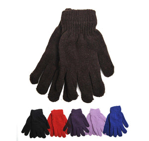 Women's Solid Color Stretch Gloves Women's Gloves GS4LESS