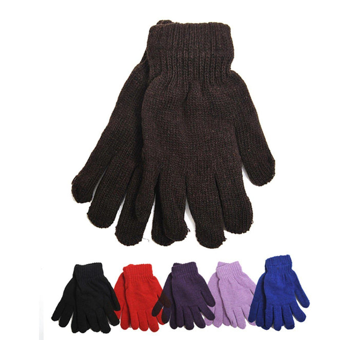 Women's Solid Color Stretch Gloves