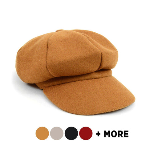 Nollia Women's Wool Beret Style Cabbie Baker Cap Fall/Winter Cap Nollia