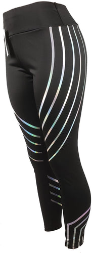 Women's striped workout leggings - GS4LESS