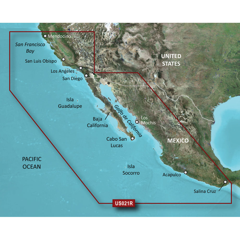 Garmin BlueChart® g2 HD - HXUS021R - California - Mexico - microSD™/SD™