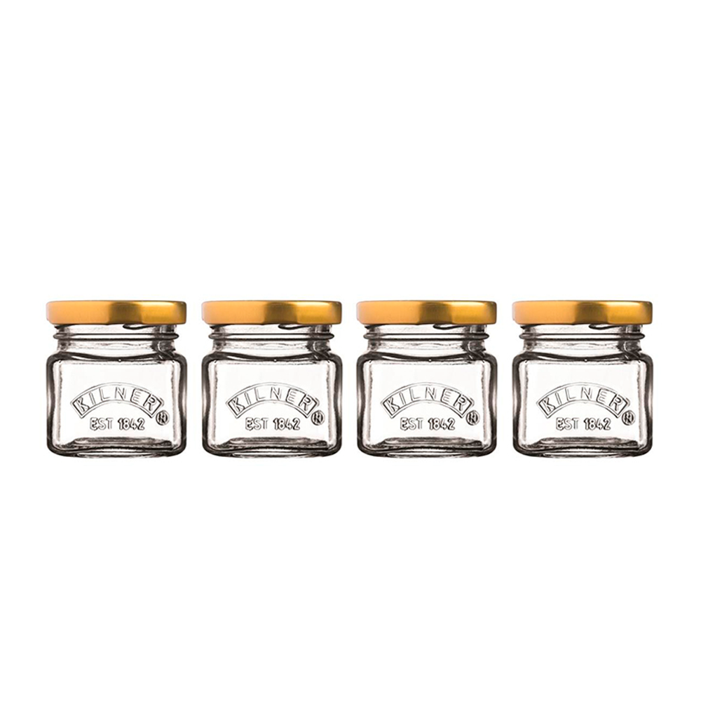 Set 4 Mini Frascos 55ml Kilner