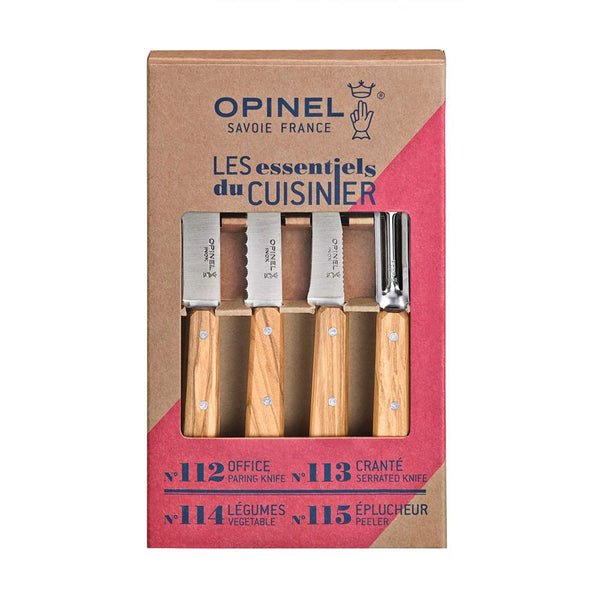 Set 4 Cuchillos Les Essentiels Olivewood OPINEL