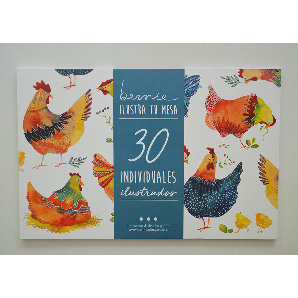 Individuales Papel Gallinas Pack de 30