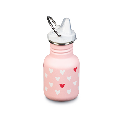 Botella Kid Kanteen Sippy Corazones 355ml