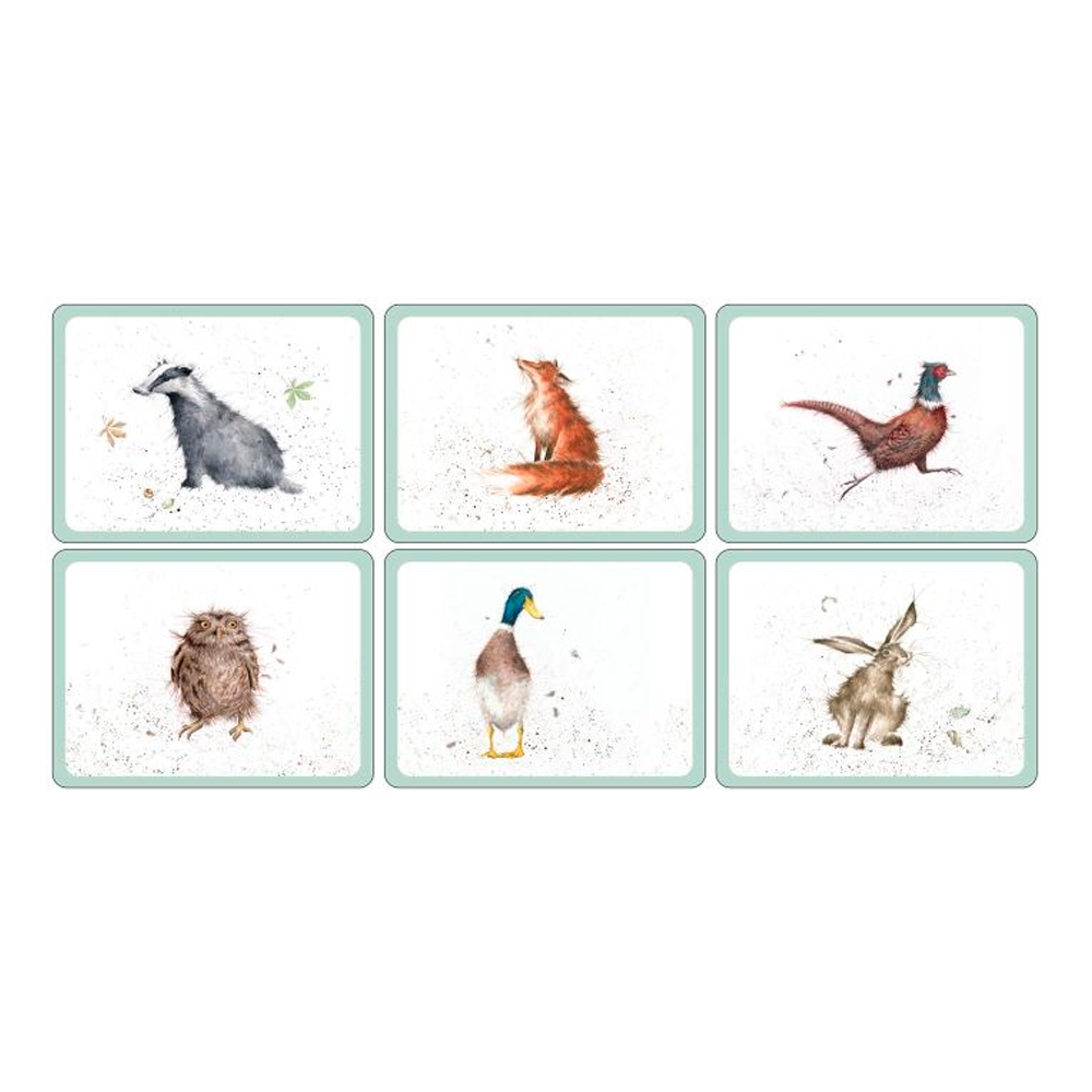 Set 6 Individuales 30,5x23cm Wrendale Animales