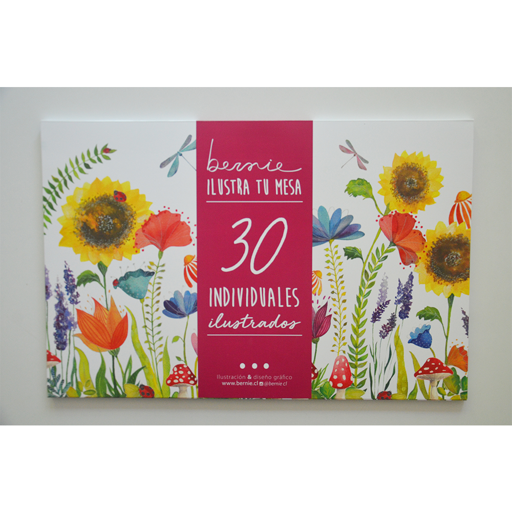 Individuales Papel Flores Pack de 30