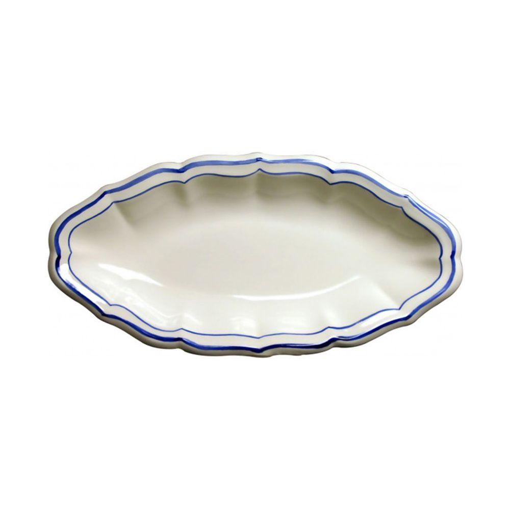 Plato Oval 26,5x13,2cm FILET BLEU