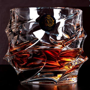 Home Bar Crystal Whiskey Glass, Large Capacity