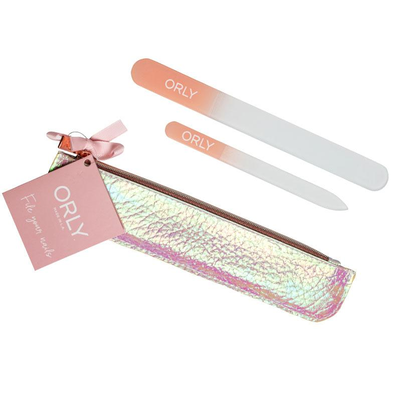 ORLY Holographic Pink Crystal File Gift Set