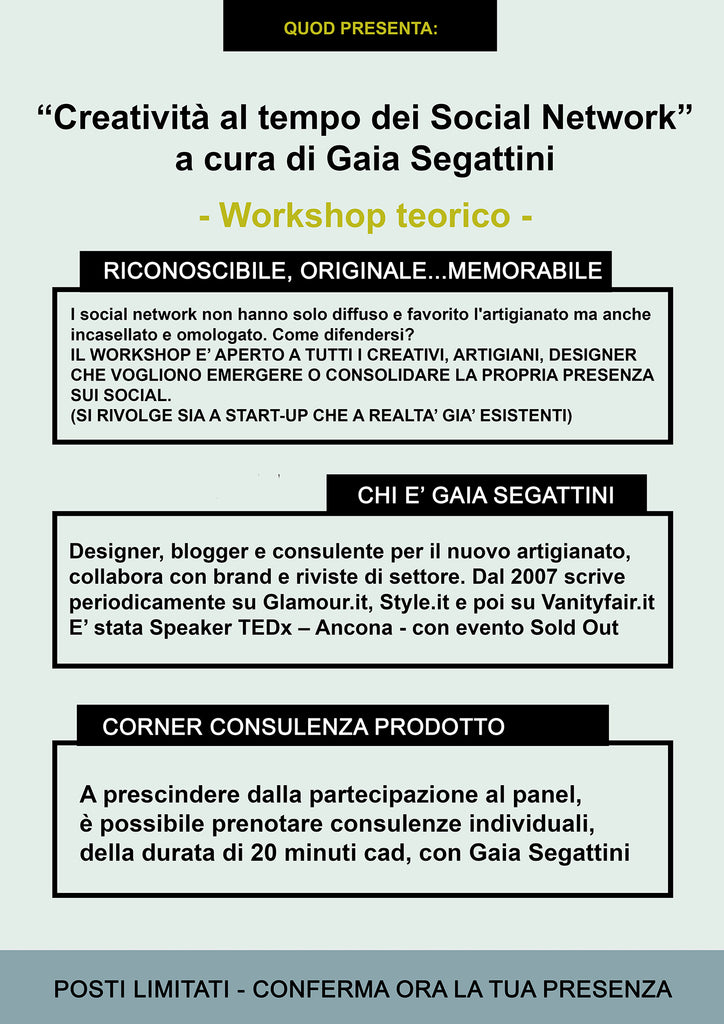 gaia segattini workshop