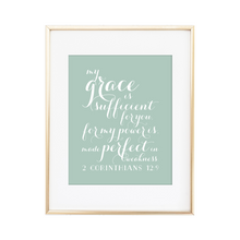 Load image into Gallery viewer, 2 Corinthians 12:9 Print