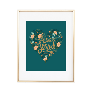 Live Loved Ephesians 5:1 Print