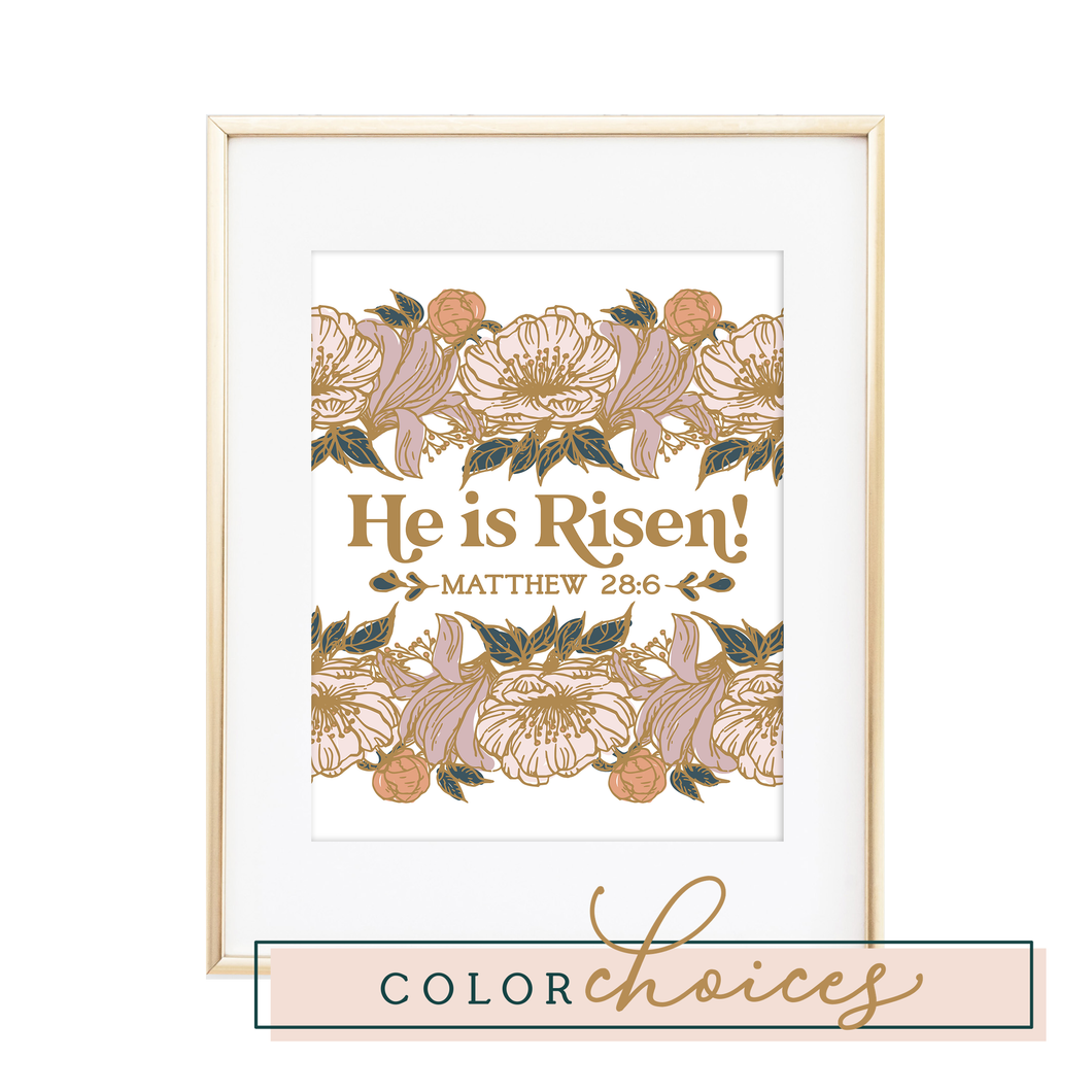 He is Risen Matthew 28:6 Print
