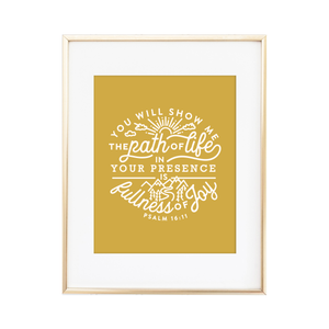 Fullness of Joy Psalm 16:11 Print