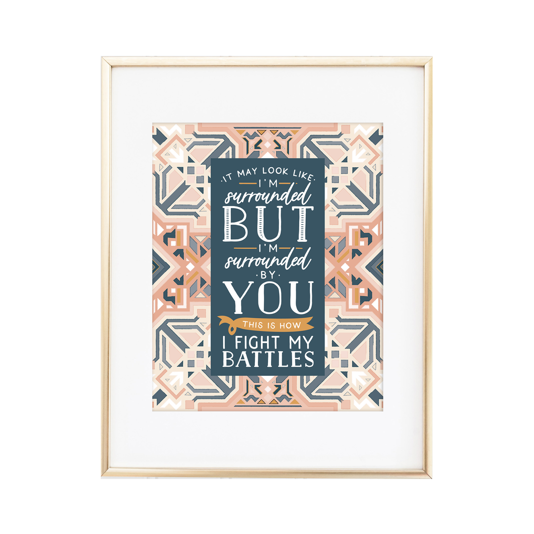 Fight My Battles Boho Print