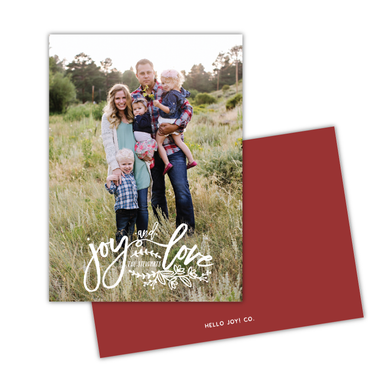 Joy & Love Greeting Card Printable