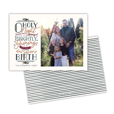 O Holy Night Greeting Card Printable - Cream