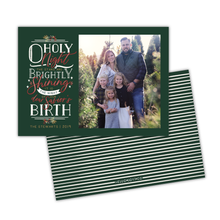 Load image into Gallery viewer, O Holy Night Greeting Card Printable - Forest