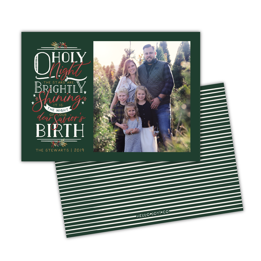 O Holy Night Greeting Card Printable - Forest