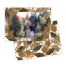 Load image into Gallery viewer, Holiday Pine Greeting Card Printable - White
