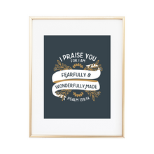 Load image into Gallery viewer, Psalm 139:14 Print