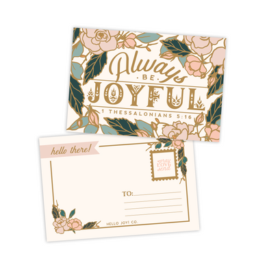 Always Be Joyful Postcards
