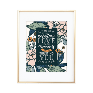 Unfailing Love Each Morning Print
