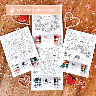 Encouraging Coloring Sheets - Instant Download