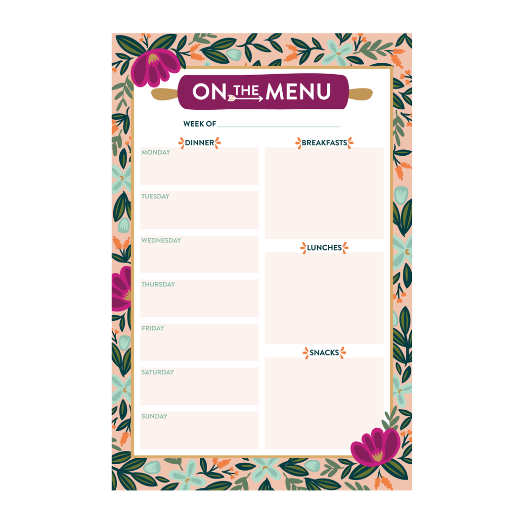 On the Menu Notepad