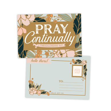 Pray Continually Postcards