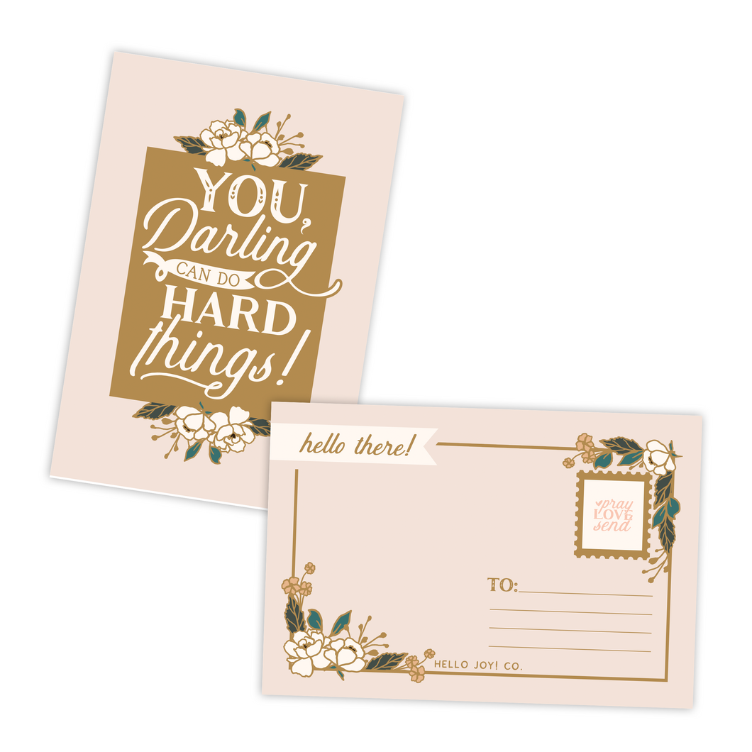 You, Darling, Can Do Hard Things Postcards