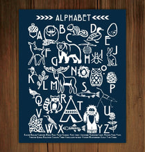 Load image into Gallery viewer, Woodland Alphabet Print