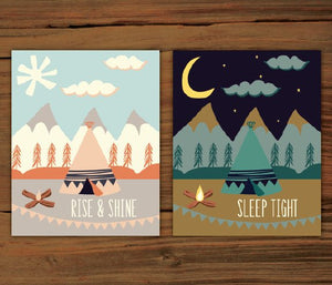 Rise and Shine & Sleep Tight Prints