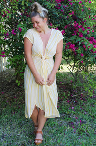 LEMON DROP MIDI DRESS