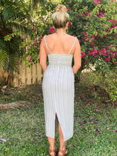 Load image into Gallery viewer, COASTAL STRIPED MIDI DRESS